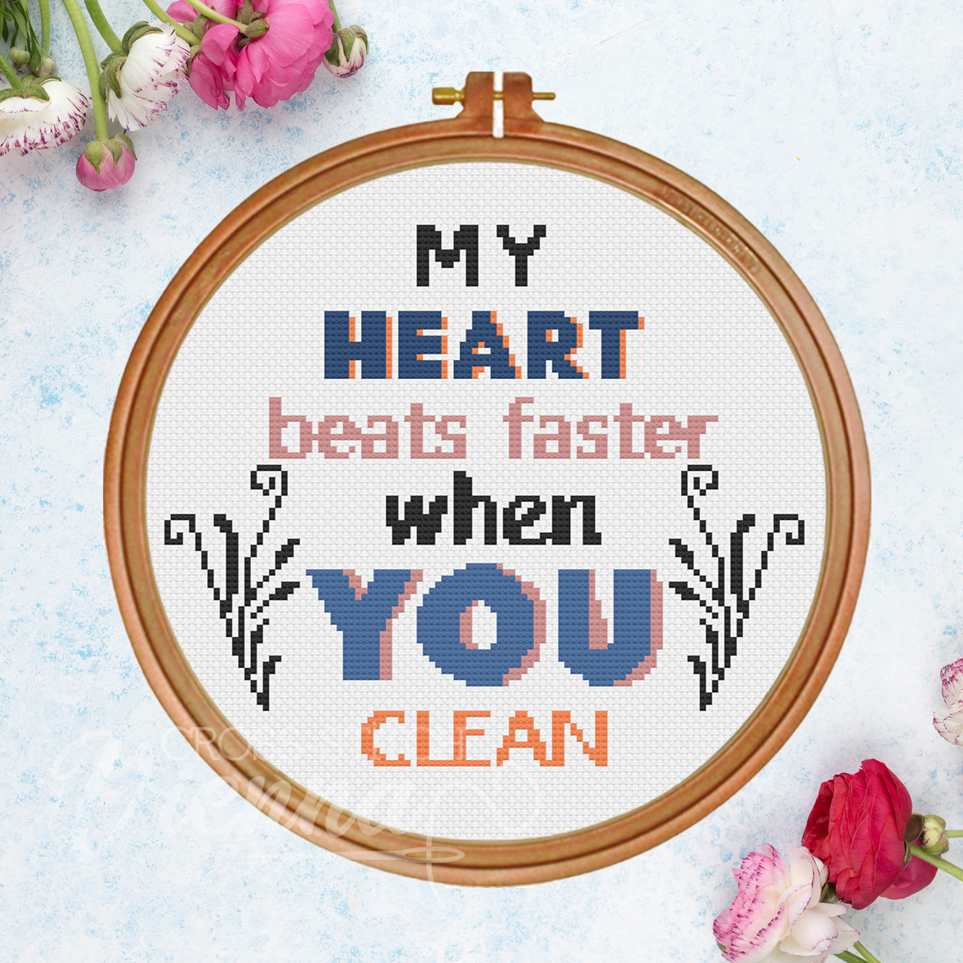 2021-08 Clean Love Cross-Stitch Pattern by Cross-Stitch Vienna sq