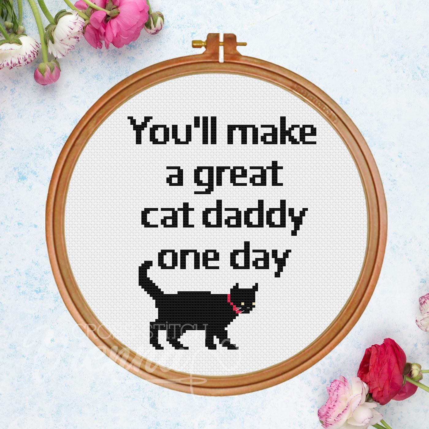 2021-12 Cat Daddy Cross-Stitch Pattern by Cross-Stitch Vienna sq