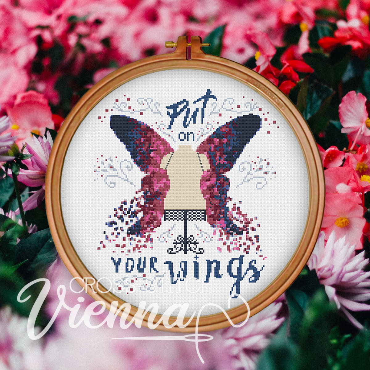 2021-14 Find Your Wings Cross-Stitch Pattern by Cross-Stitch Vienna sq2