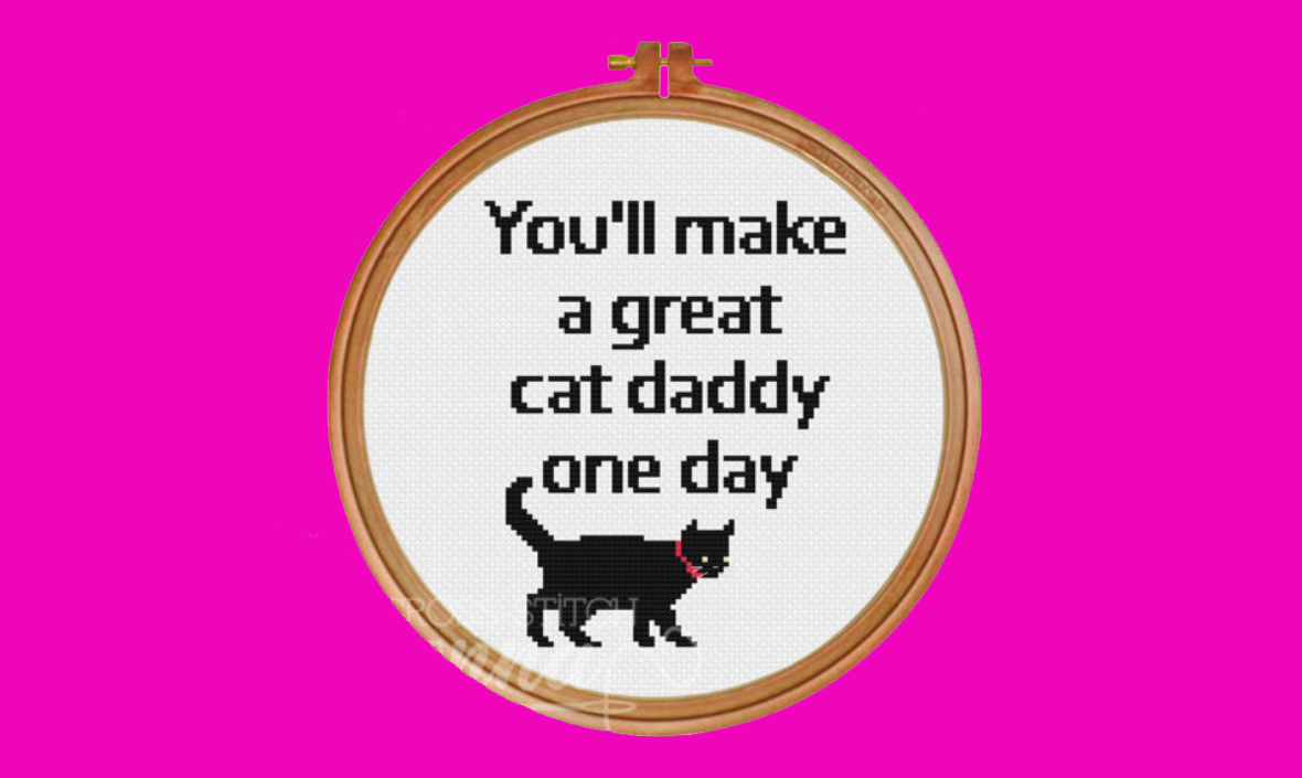 Cat Daddy – Free Counted Cross-Stitch Pattern