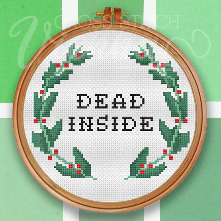 Dead Inside Cross-Stitch Pattern by Cross-Stitch Vienna sqv2