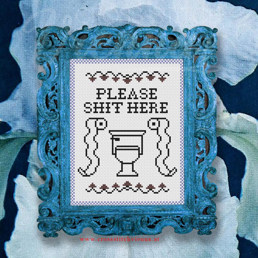 Pls Shit Here Cross-Stitch Pattern by Cross-Stitch Vienna Thumbnail