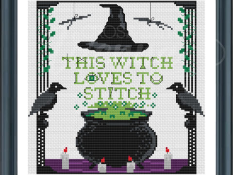 This Witch Loves to Stitch by CSV_Framed View_v2 CSV